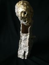 """ALEPPO ceramic, gold leaf, 24""""x9""""x9"""""""