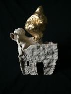 """FALLUJAH ceramic, gold leaf, 18""""x11""""x11"""""""